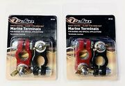 4 New Marine Epoxy Coated Battery Terminals And Wing Nuts 2 Positive 2 Negative