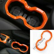 For Jeep Renegade 2015-2020 Abs Orange Middle Console Water Cup Frame Trim News