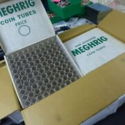 Case Of 10 Boxes Coin Tubes Us Nickel Size Box Nos Storage 100 Ct 1000 Pieces