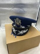 Us Air Force Chief Of Staff Visor Hat Size 7 1/4 Boxed Vb3429