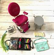 American Girl Doll Salon Hair Stylist Chair And Accessories Bundle Lot