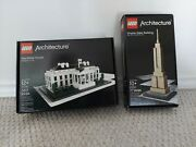 Lego Architecture 21002 21006 White House Empire State Building Retired