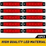 10x Led Rock Lights Offroad Atv Truck Underbody Wheel Well Light Red For Jeep