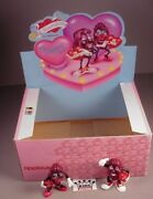 Vintage 1988 California Raisins Pvc Figures In Store Display Box From The Heart