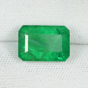 6.00 Ct Fine Quality - Best Green Zambian Mined Natural Emerald See Vdo 0300
