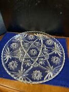 Vintage Anchor Hocking Star Of David Clear Glass Serving Dish 13andrdquo Across