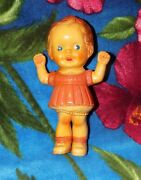 Vintage 1956 Rempel Brand Rubber Squeeze Toy Girl Doll