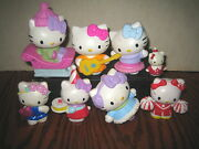 8 Rare Htf Hello Kitty Collectable Figure's Lot , Sold As Is