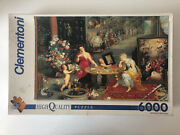 6000 Pieces Jigsaw Puzzle Clementoni Allegory Of Sight And Smell Rare Puzzle