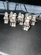 10 Lego Star Wars Barc / Reacon Lego Clone Lot , With Clone Army Customs Weapon