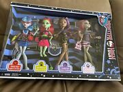New Monster High Ghoul's Night Out 4 Doll Pack Ghoulia Venus Clawdeen Rochelle