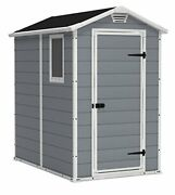 Keter Manor 4x6 Resin Outdoor Storage Shed Kit-perfect To Store Patio Furniture