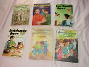 Mixed Lot Of 6 Encyclopedia Brown Children's Books As Shown Nice