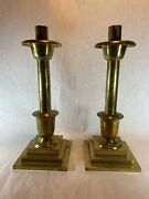Vintage Antique Sudbury Brass Altar Ware Candlestick Candle Holders 14 Inch