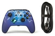 Powera Enhanced Wired Controller For Xbox One - Spider Lightning