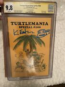 Tmnt 100 Turtlemania Gold Signed By Kevin Eastman Cgc Ss 9.8