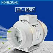 5'' Silent Inline Duct Fan 220v Air Extractor Hydroponic Gardenging Grow Blower