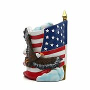 Patriotic American Flag Veterans Day American Pen The Eagle Flag Pen Container