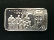 1975 Lincoln Mint Franklin D. Roosevelt Silver Art Bar History Of Wwii P1663