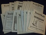 1921 Textile World Journal Magazine Lot Of 48 Different - Great Ads - Mz 528