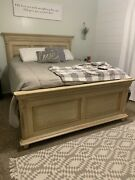 Durham Furniture Savile Row Queen Panel Bed Frame In Antique Cream Solid Wood