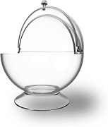 Clear Candy Bowl - Cookies, Candies, Mints For Office, Parties, Home Storage Jar