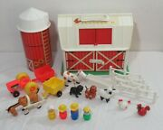 Vtg And03967 Fisher Price Little People Play Family Farm 915 Barn Silo And Acces. +