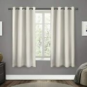 Exclusive Home Curtains Sateen Twill Woven Blackout Grommet Top Curtain Panel Pa