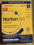 New Never Used Norton 360 Deluxe 5 Devices 1 Year Us Realtime Threat Protection