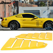 Fits 15-20 Mustang Oe Style Painted H3 Triple Yellow Side Window Louvers Pair