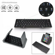 Foldable Ultra-slim Wireless Bluetooth Keyboard + Stand For Windows Android Ios