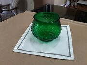 Vintage E. O. Brody Green Glass Planter / Vase. Made In Cleveland Ohio. U.s.a.