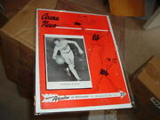 1951 Warriors Vs Minneapolis Lakers Program With George Mikan Rookie Image Front