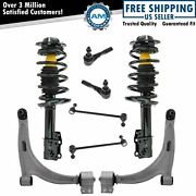 8pc Steering Suspension Kit Control Arms Tie Rods Strut Spring Assemblies