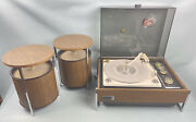 Zenith Circle Of Sound Stereo Model Z565-1 + Pair Of Mid Century Modern Speakers