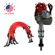 New Spark Plug Wires Block Ford 289-302 Small Cap Hei Distributor And 8mm Red