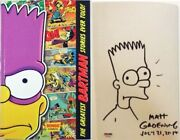 Signed Matt Groening Hand Drawing Simpsons Business Card Comic Con 2014 Psa Dna