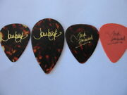 Moody Blues 4 Different Stage Used Tour Guitar Picks Justin/john