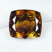 28.80 Ct Awesome - Brown Orange Yellow Natural Sphalerite - See Vdo 5661a