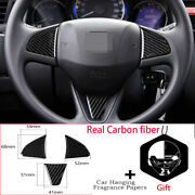 3carbon Fiber Steering Wheel Button Cover For Honda Fit Jazz 2014-18 Small Size