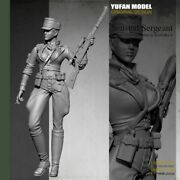 Domestic 1/35 Ww2 Nazi German Army Sexy Female Sniper Soldier Unpainted Made Of