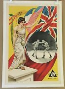 Great Glove Fight 1900 Earliest Known Boxing-themed Movie Poster Williamson Uk