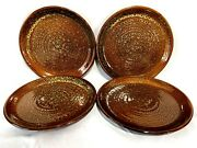 Jaclyn Smith Today Mottled Brown Set Of 4 Dinner Plates 10 1/2