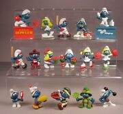 Vintage Smurfs 16 Smurf Toys Pvc Figures Smurfette 1970and039s-1980and039s Peyo Schleich