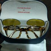 Maison Kitsune X Oliver Peoples Date Glasses X Sunglasses Used From Japan Rare