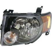 Headlight For 2009 2010 2011 2012 Ford Escape Left Black Housing With Bulb