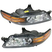 Headlight Set For 2006 Acura Tl Canada Built Left And Right 2pc