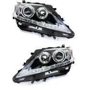 Headlight Set For 2013-2015 Lexus Rx350 Rx450h Japan Built Left And Right 2pc