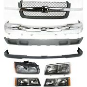 Bumper Cover Kit For 2003-2006 Chevy Silverado 1500 Front Old Body Style 8pc