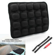 Rear Passenger Motorcycle Air Seat Cushion Pressure Relief Pad 9.1and039and039andtimes11.8and039 Black